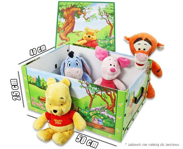 Pudełko na zabawki z motywem Kubusia Puchatka