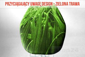 Zielony bawełniany pokrowiec