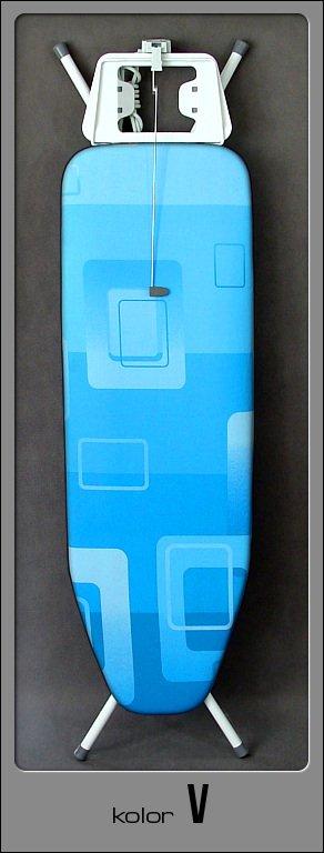 Deska z niebieskim pokrowcem