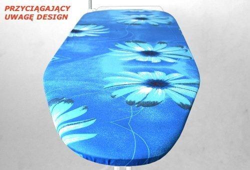 Motyw kwiatowy gerbera niebieska